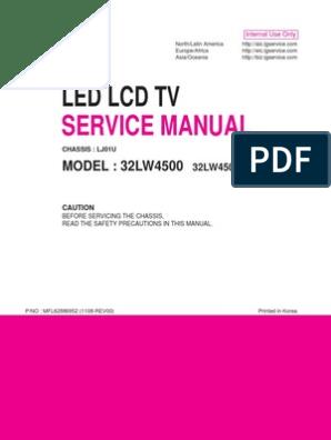 LG 32LW4500 Service Manual   Printed Circuit Board   Soldering