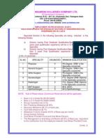 SCCL Recruitment Advt.
