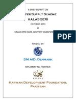 Water Supply Scheme-Village Kalas Seri, AJK