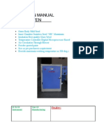 """Operating Manual """"PIECO"""" Hot Air Oven"""