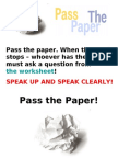 Pass the Paper - General