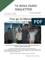 Santa Rosa Fund Newsletter No 30 November 2007