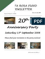 Santa Rosa Fund Newsletter No 31 July 2008