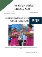 Santa Rosa Fund Newsletter No 29 June 2007