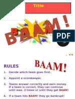 BAAM Mr X day mini
