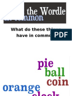 What the Wordle in Common