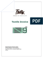 User Manual With FAQs - Textile Sales Invoice