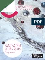 Programme du Conservatoire Saison 2014-2015