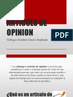 Articulo de Opinion g1