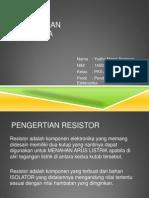 Resistor Dan Aplikasinya