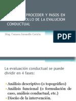 Forma de Proceder y Pasos en El Desarrollo de La Evaluación Conductual