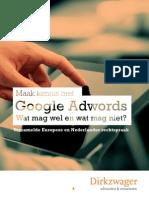 Google Adwords, wat mag wel en wat mag niet?