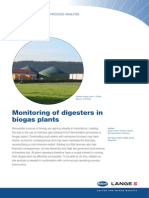 Monitoring of digesters in biogas plants
