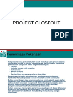12. Project Close Out