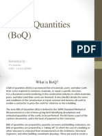 Bill of Quantities (BoQ)