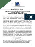 PIDFCE Communique Etude Accueil 24.11.20101