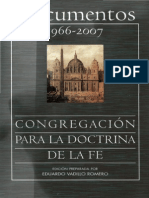 Congregacion Para La Doctrina de La Fe Documentos 1966 2007 Bac 2008