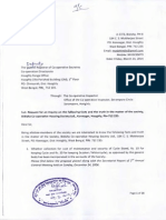 Complaint letter submitted to the Deputy Registrar of Co-operative Societies on Monday, 24 March 2014.