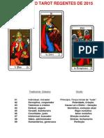 Arcanos Do Tarot Regentes de 2015