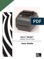 Zebra Gk420tmanual