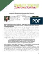 CS31 - Compte Rendu Réunion Lancement Du 22 Novembre à Toulouse