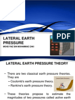 Lateral Earth Pressure