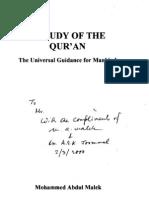 M.a.malek_Study of Quran