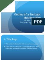 -Strategic Business Plan Outline Copy