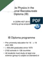 IB Working Group Proposal