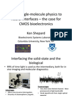 From Single-Molecule Biophysics to Neural Interfaces -- The Case for CMOS Bioelectronics