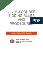 Term-3 Bidding Rules