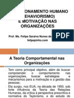 Condicionamento Humano e Motivação Nas Organizações