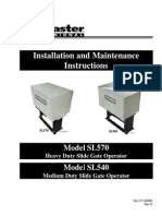Liftmaster SL570 S3 Owners Manual