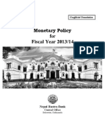 Monetary Policy (in English)--2013-14 (Full Text)