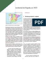 División Territorial de España en 1833