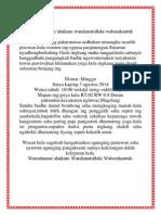 UNDANGAN Bahasa Jawa