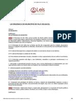 Lei Orgânica de Vila Velha - ES