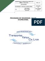 Pro. 01 Programa Seguridad y Salud Ocupacional