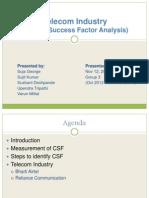 CSF Analysis Telecom Industry