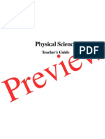 Physical Science Teachers Guide preview