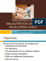 The Effect of Malnutrition on the Developing Child