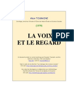 La voix et Le Regard Alain Touraine 1978