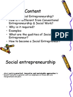 • What is Social Entrepreneurship? • How