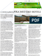 Nedeljski dnevnik - Prva lastovka med EKO hoteli