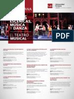 Programación de la Semana de las Artes Escénicas, la Música y la Danza de la Universidad Europea de Madrid 1- 4 de diciembre de 2014