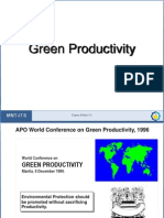 Green Productivity