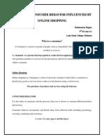 Consumer Behavior Changes - Rahimunisa Begam LDC College