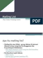 02. Mailing List