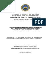 Procesos de Auditoría en Sistemas de Información en La Empresa Industrial