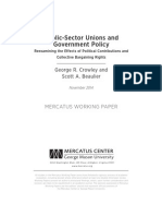 Public-Sector Unions and Government Policy